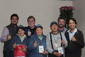 With Erik, Kevin and Paul when we visited our partners farm workers in flower farms