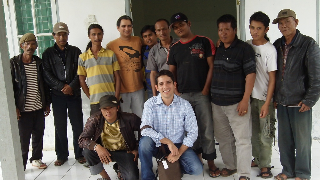 Small-scale coffee farmers from the Seribudolok village meet to discuss Fair Trade certification