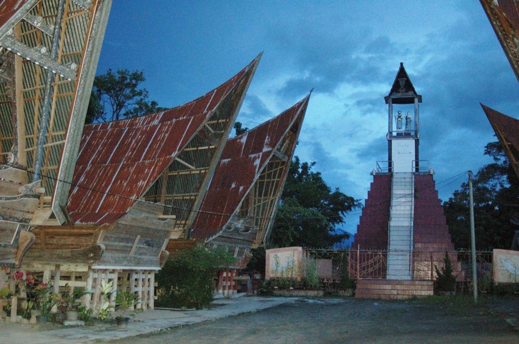 Traditional Batak village in Samosir Island, Lake Toba
