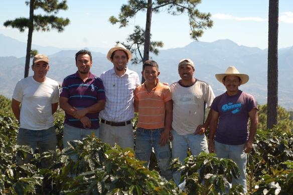 """With independent smallholder coffee farmers from """"El Trigo"""" in Santa Rosa de Copan, Honduras"""