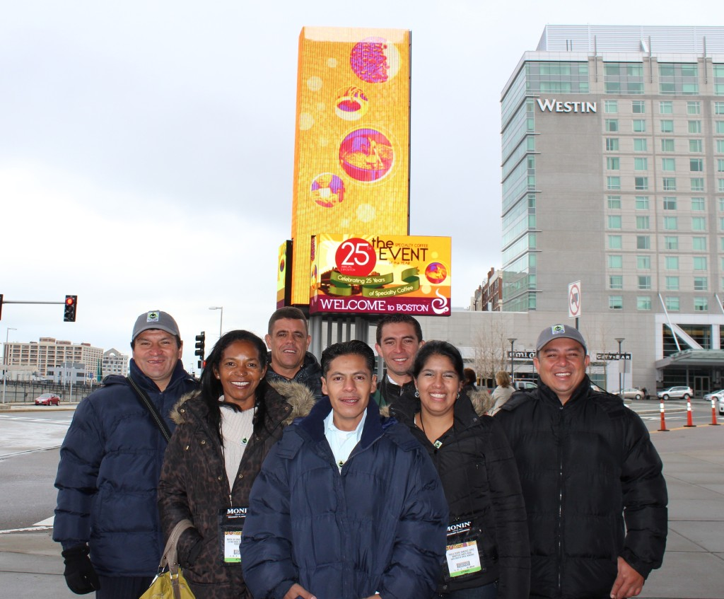 Farmers and workers at SCAA 2013