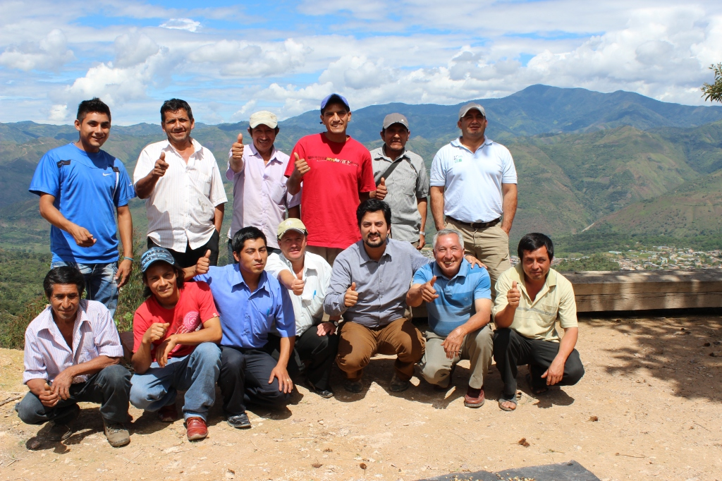 Paul with independent smallholder coffee farmers in Peru
