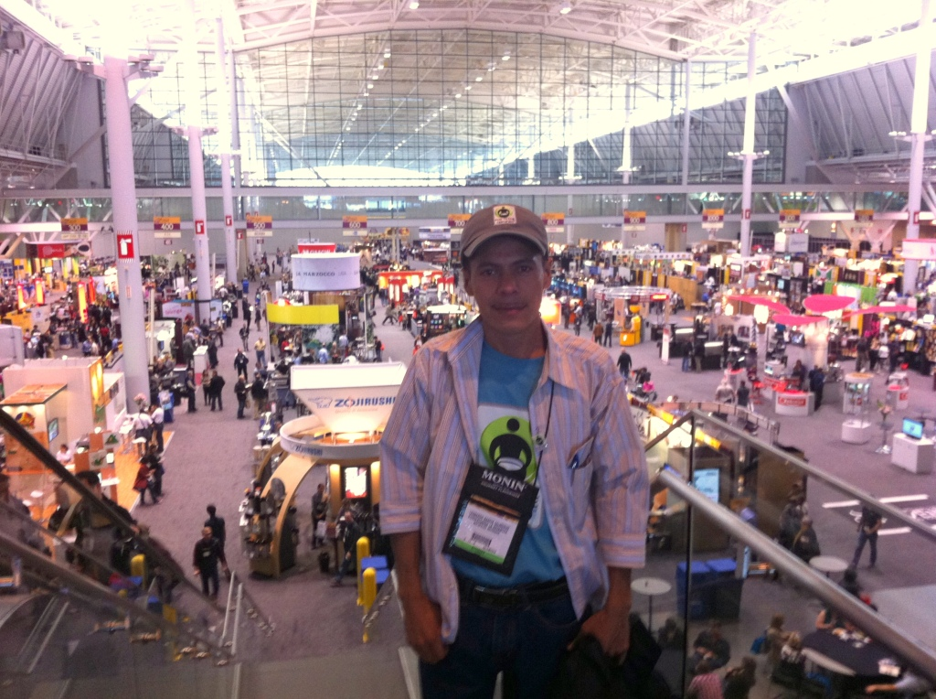 Leonardo at Specialty Coffee Association of America show in Boston