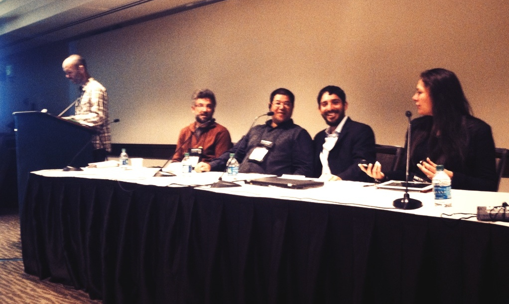 Millions in the Margins Panel - SCAA 2014 -  with Michael, Erik, Marcos and Pascale - Pic: @CRSFairTrade
